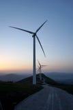 Windmolens voor vernieuwbaar royalty-vrije stock afbeeldingen
