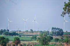 Windmolens voor vernieuwbare stroomproductie Royalty-vrije Stock Fotografie
