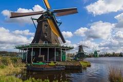 Windmolens in Zaanse Schans - Nederland Royalty-vrije Stock Foto's