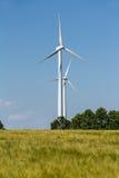 Windmotor voor machtsgeneratie Stock Afbeelding