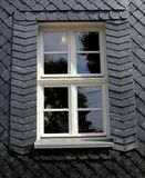 Window in a slate wall, Thuringia, Germany Royalty Free Stock Photos