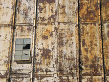 Window. And rusted iron plate Stock Image