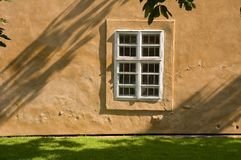 Window. Detail of a window of an old european house, Prague Royalty Free Stock Images