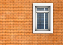 Window. On the background of brick wall. Made in 3D Royalty Free Stock Photo