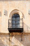 Window. Balcony With Cast-iron Lattice In Old City Of Jerusalem Stock Image