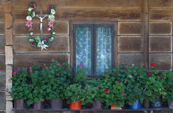Window. On a old country house Stock Photos