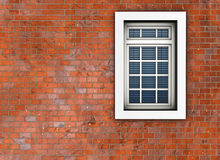 Window. On the background of brick wall. Made in 3D Royalty Free Stock Photography