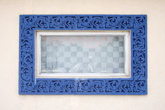 Window. Design on wall,india Royalty Free Stock Image