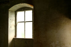 Window. Old window in  an old abandoned house Royalty Free Stock Photography