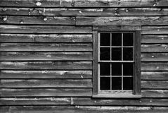 Window. On old house, black and white Stock Photo