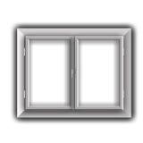 Window. Isolated on a white background stock illustration