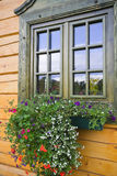 Window. In a country - house with flowers Royalty Free Stock Image