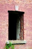 Window. In a red brick building royalty free stock image