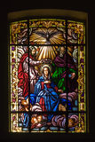 Window. Religious stained glass window in a church Stock Photography
