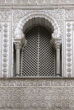Window. Arabic window in Reales Alcazares, Seville, Spain Royalty Free Stock Images