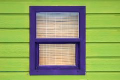 Window. A brightly colored wooden window Royalty Free Stock Photos