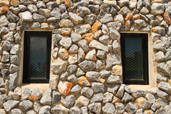 Window. Two window and rock wall royalty free stock photography