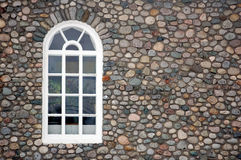 Window. Picture of a window on a stone wall Stock Photography