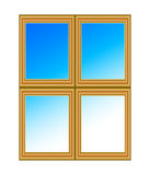 Window. Glass window with blue sky Royalty Free Stock Photo