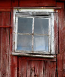 Window. An old broken barn window. This is typical Swedish style Stock Image