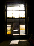 Window. Big colorful windows in big industry hall Royalty Free Stock Image