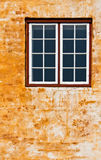 Window. On a grungy wall Royalty Free Stock Photos