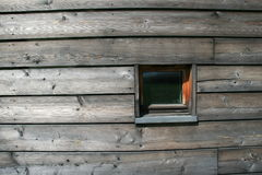 Window. A small window on a curved wall on the Heie-Onstad art centre in Norway royalty free stock photos