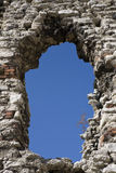 Window. Ruined window of medieval castle Royalty Free Stock Photo