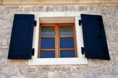 Window. In centre of Mostar royalty free stock photo