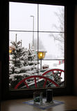 Window. Cold winter through the window royalty free stock photos