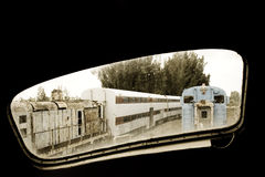 Old locomotive window Stock Photos