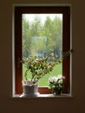 Window. From inside view Royalty Free Stock Photos
