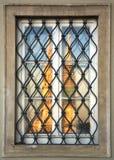 Window. Reflection of Cathedrale in Window ,Zagreb Croatia stock photos