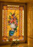 Window. A window decorated with tiffany glass Royalty Free Stock Photo