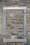 Window. Closing window with brick Wall royalty free stock photos