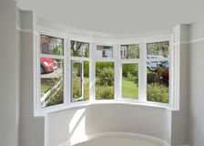 Window. A bay window in a house Royalty Free Stock Photos