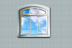 From a window. Open window in the big world Royalty Free Stock Photos