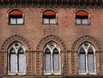 Window. Period building in Bologna Royalty Free Stock Photos