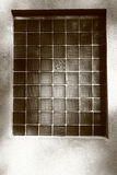 Window. Made from glass-blocks Stock Photography