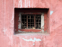 Window of an abandoned basement Royalty Free Stock Image