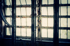 Window in Abandoned Building Royalty Free Stock Photography