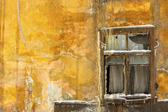 Window of the abandoned house Stock Photography
