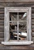 Window of an abandoned house Royalty Free Stock Photos