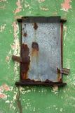 Window in abandoned house broken Stock Photos