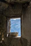 A window in  abandoned house Stock Images