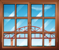 A window across the bridge Stock Image