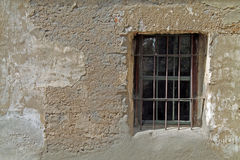 Window in an Adobe Building in a Spanish Mission Stock Photos