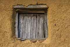 Window in Adobe House Royalty Free Stock Photos