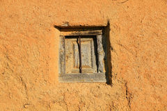Window in Adobe Wall Royalty Free Stock Photography
