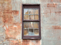 Window on aging wall in St. Augustine, Florida. Window against old, aging wall in St. Augustine, Florida stock photography